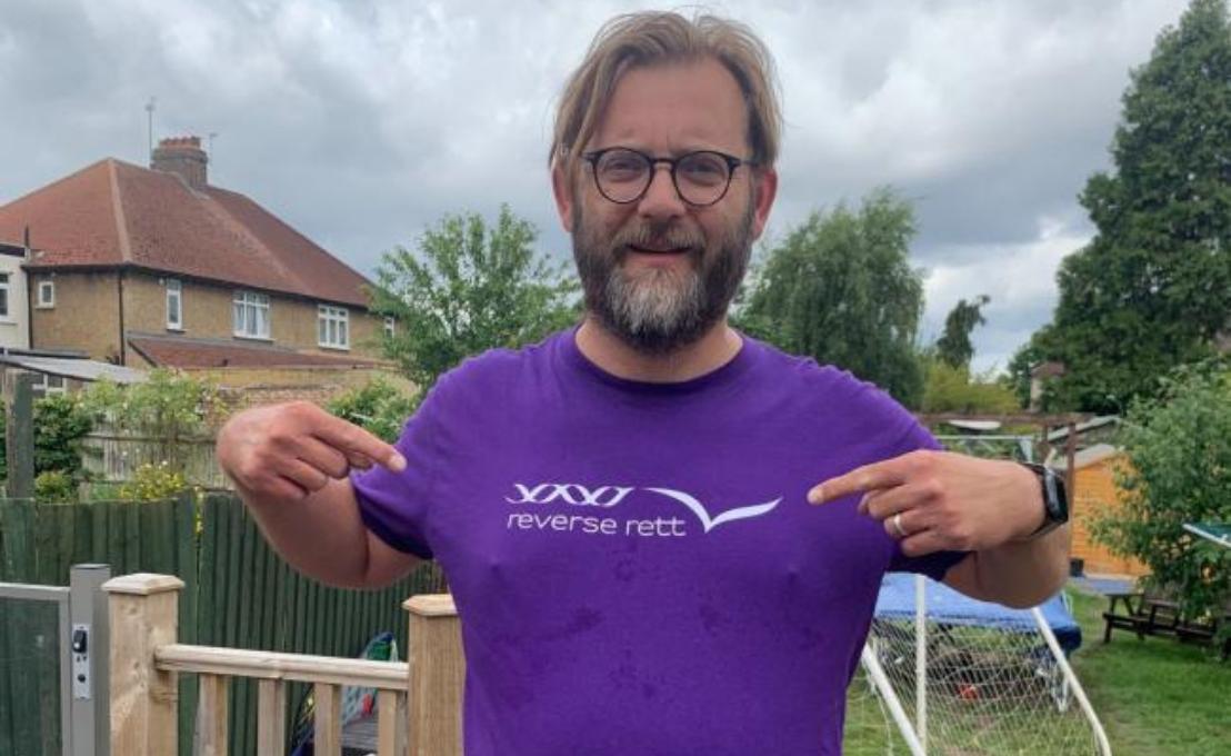 Sutton & Croydon Guardian: Sutton dad continues 'tough' challenge for Rett Syndrome