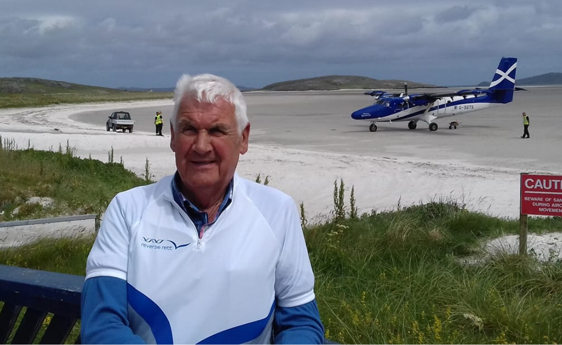 Edinburgh News: Linlithgow granddad cycles 185 miles across Outer Hebrides for charity